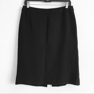 moschino Classic Black Wool Stitched Pencil Skirt